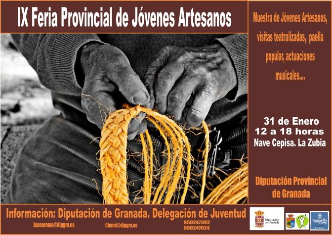 Este sábado os esperamos en la IX Feria Provincial de Jóvenes Artesanos