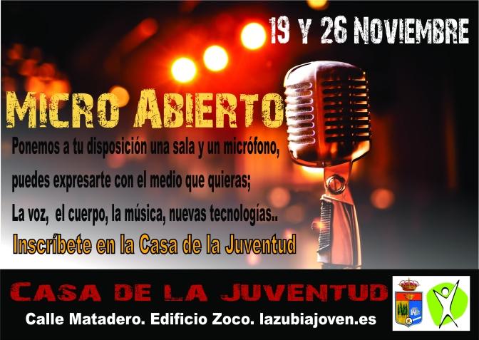 Micro Abierto….Participa