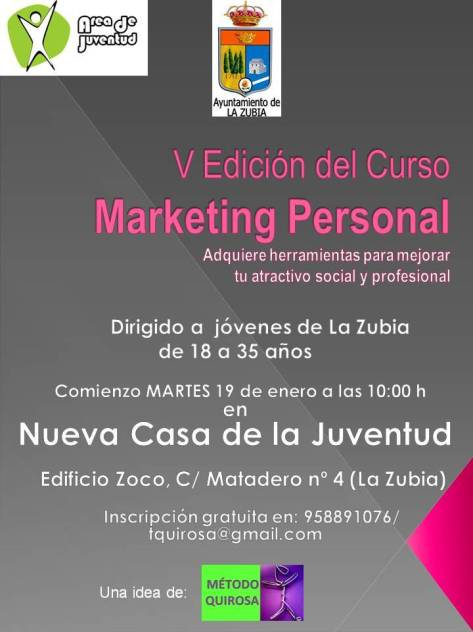 Cartel V curso marketing