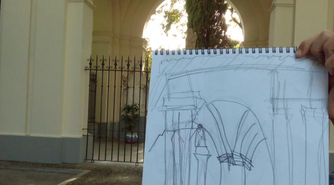 Diseño de escenario en el convento de San Luis