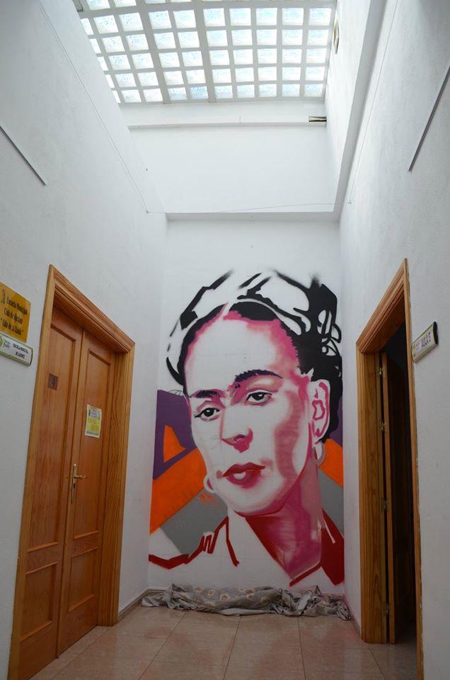 Graffiti de Frida Kahlo por AlC