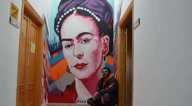 Terminado el graffiti de Frida Kahlo